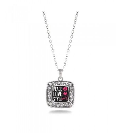 Stylists Classic Silver Crystal Necklace