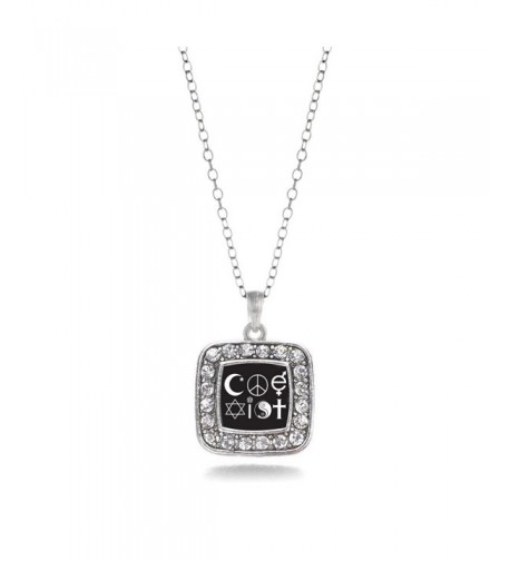 CoExist Classic Silver Crystal Necklace