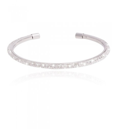 Inside Zirconia Silver Rhodium Bracelet