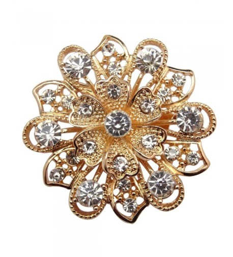 Crystal Flower Bridal Brooch Brooches