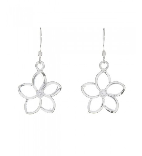 Sterling Silver Floating Plumeria sterling silver