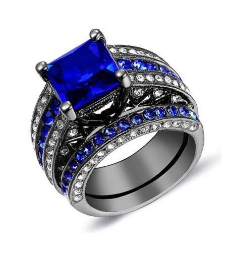Sapphire Engagement Ring Halo Wedding