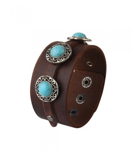 Jenia Genuine Wristband Turquoise Bracelet