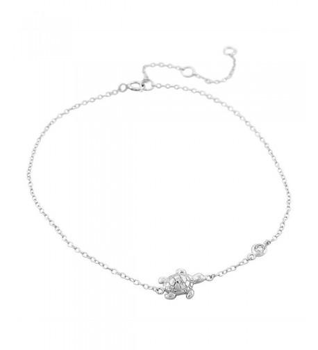 Sterling Silver Bezel Set Turtle Bracelet