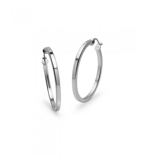 Sterling Silver Polished 2x30mm Earrings