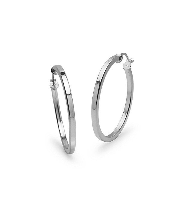 Sterling Silver Polished 2x30mm Earrings