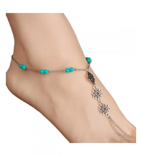 SusenstoneFashion Beach Tassel Jewelry Anklet