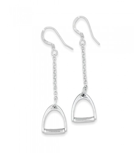 Sterling Silver Polished Stirrup Earrings