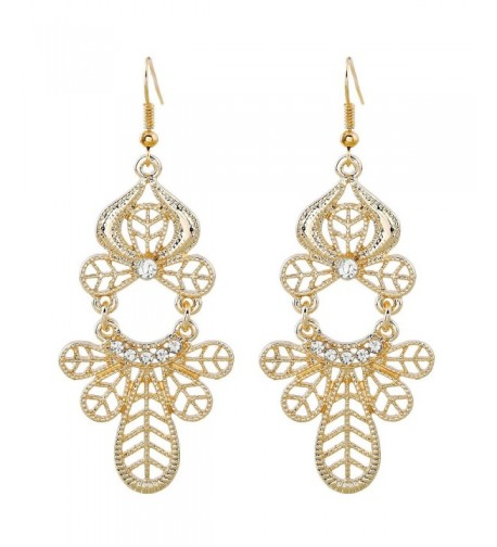 EXCEED Vintage Pattern Filigree Earrings