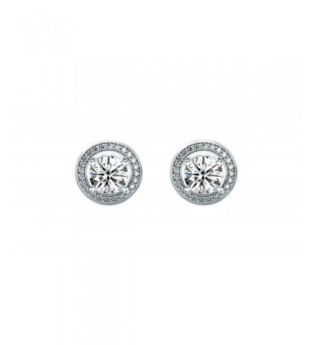 Women Round Cubic Zirconia Earrings