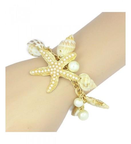 Fullkang Starfish Bracelets Bangles Pendant