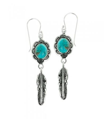 Oxidized Sterling Turquoise Gemstone Earrings
