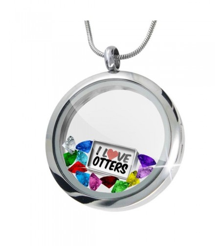 Floating Locket Otters Crystals Neonblond