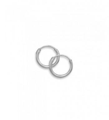 Endless Hoop Earrings Sterling Silver