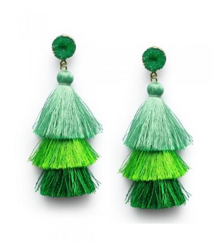 Tassel Layered Dangle Earrings Christmas