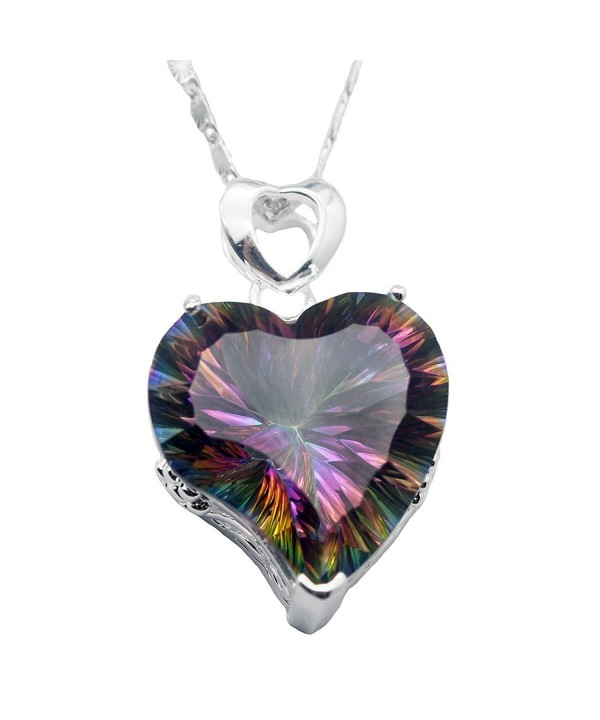 Silver Heart Pendant Mystic Necklace