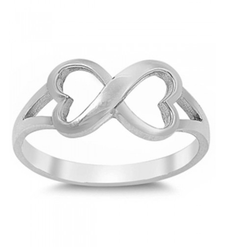 Solid Heart Infinity Sterling Silver