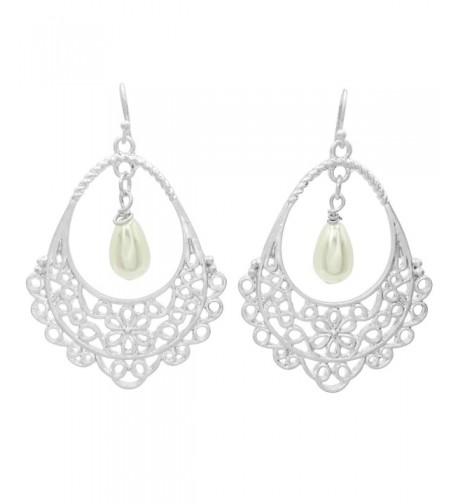 Filigree Teardrop Boutique Earrings Imitation