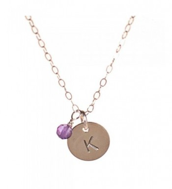 Sterling Silver Initial Necklace Personalized