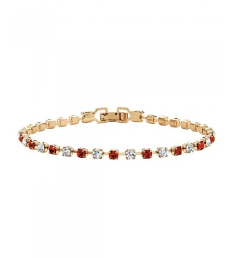 Birthstone Crystal Gold Tennis Bracelet