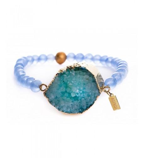 Agenda Natural Stretch Bracelet Aquamarine