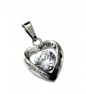 R H Jewelry Stainless Pendant Necklace