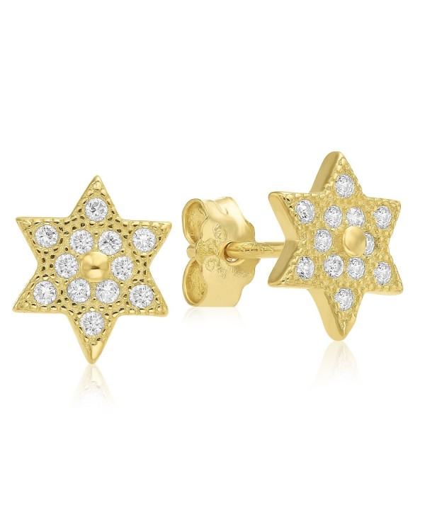 Sterling Silver Zirconia Kabbalah Earrings