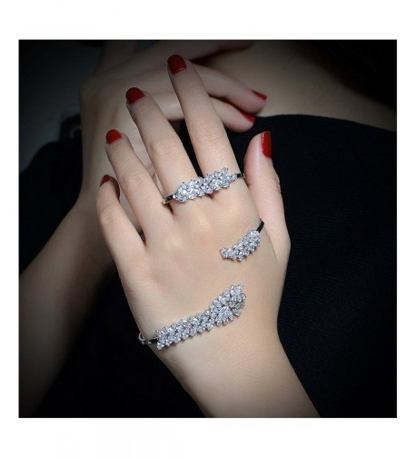 Dnswez Zirconia Bracelet Finger Bangle