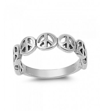 Oxidized Stackable Beautiful Sterling Silver