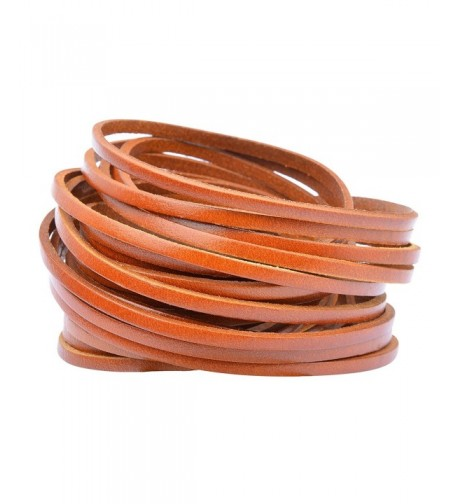 Womens 32mm Leather Bangle Bracelet