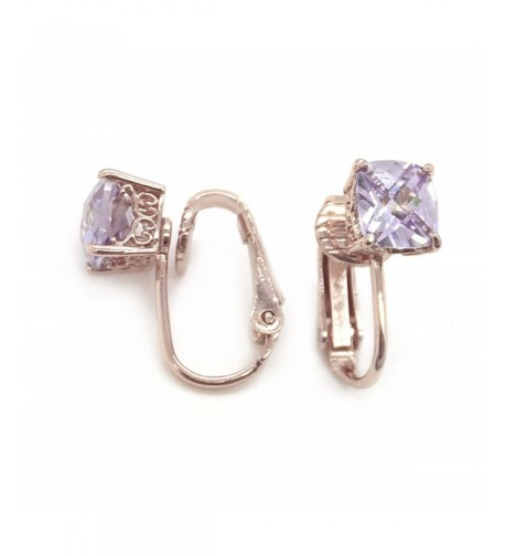Sparkly Bride Earrings Checkerboard Solitaire