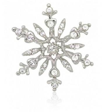 Akianna Silver tone Swarovski Crystals Snowflake