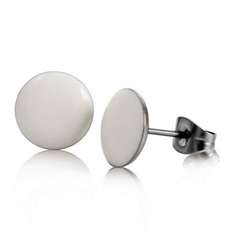 INBLUE Womens Stainless Enamel Earrings