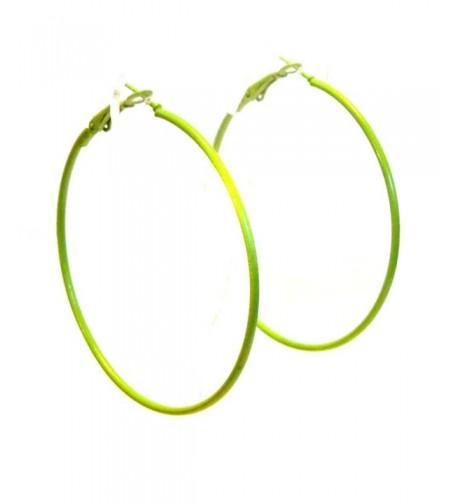 Color Earrings Simple Hoops Assorted