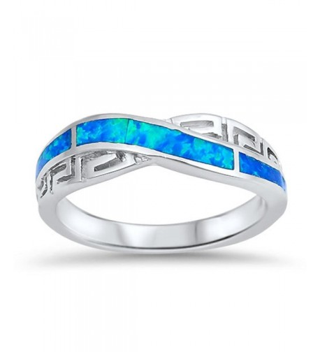 Infinity Greek Simulated Sterling Silver