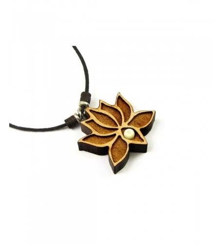 Flower Pendant Adjustable Necklace Accent