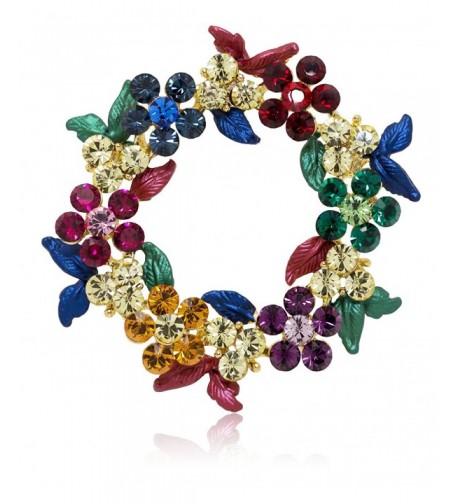 Akianna Gold tone Swarovski Christmas Multicolor
