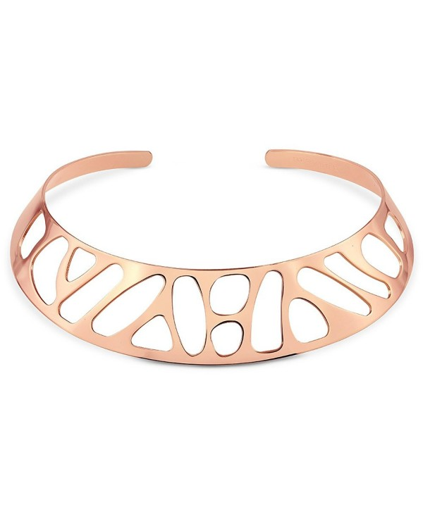 BERRICLE Plated Fashion Choker Necklace