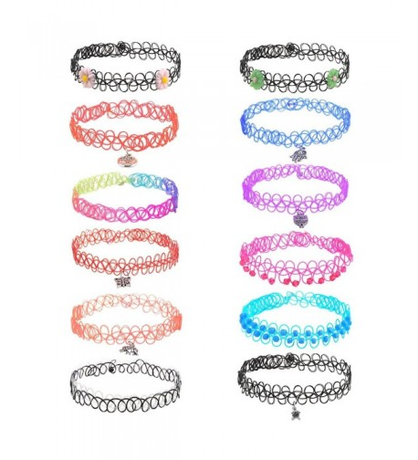 Rainbow Flowers Stretch Necklace Pendant