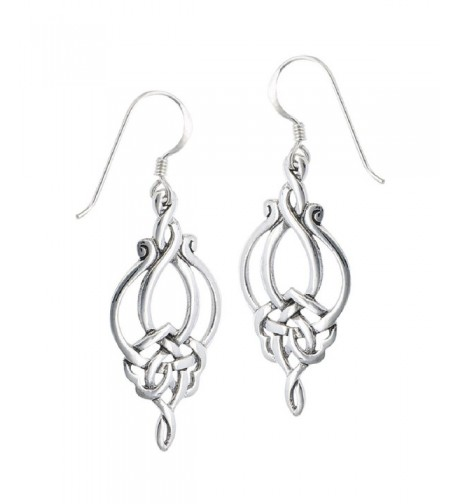Sterling Silver Unique Celtic Earrings
