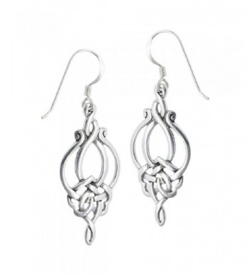 Sterling Silver Unique Celtic Earrings