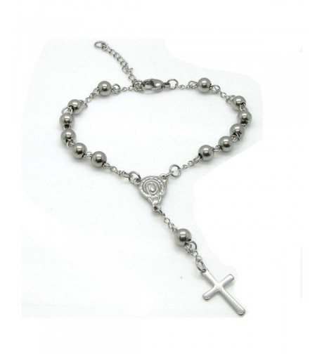 Stainless Single Decade Catholic Bracelet
