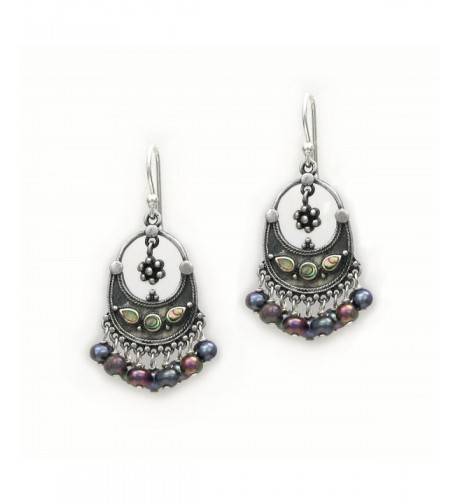 Sterling Bohemian Cultured Freshwater Earrings
