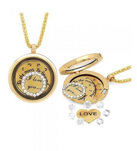 Love Moon Locket Yellow Necklace