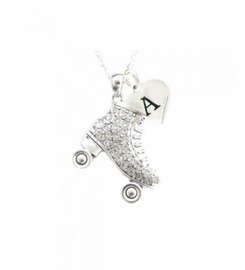 Custom Crystal Necklace Jewelry Initial