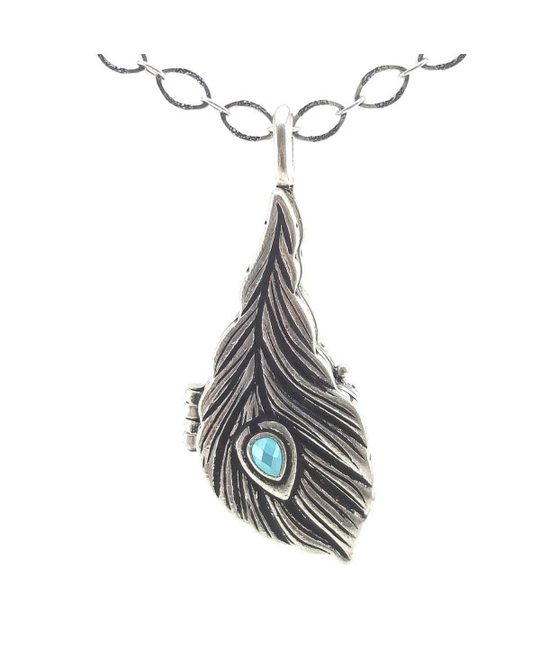 DaisyJewel Bohemian Peacock Feather Necklace