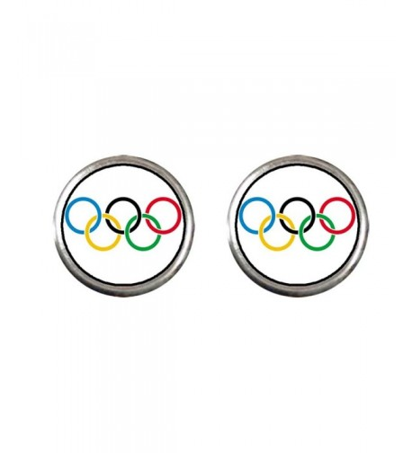 GiftJewelryShop Silver Olympic Earrings Diameter
