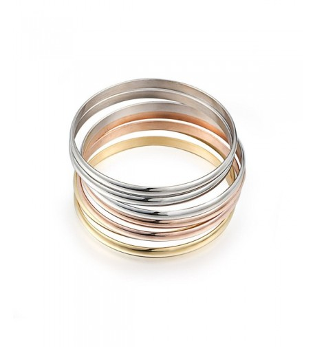 Womens Tri color Silver Stainless Bracelet