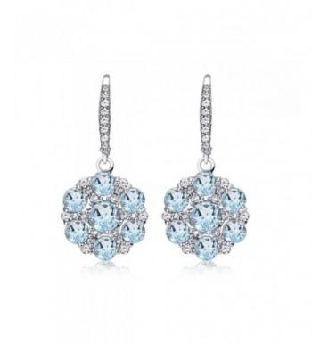 Sterling Silver Flower Leverback Earrings