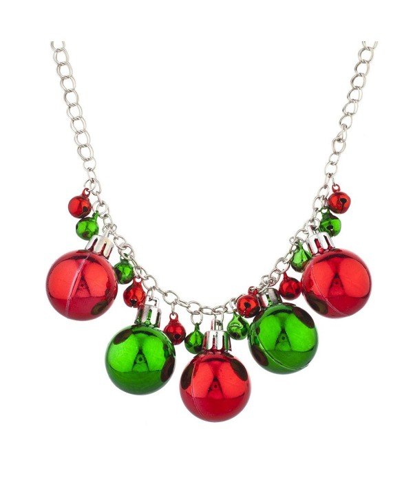 Lux Accessories Silvertone Christmas Necklace